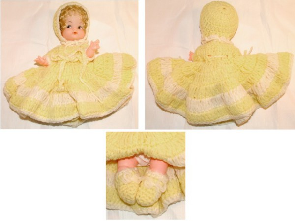 Baby Doll, Doll, Figurine, Model, Crocheted Doll clothes, Knitted Doll clothes, Hand-made doll clothes, collectibles