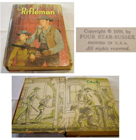 The Rifleman, Children's Book, Authorized TV Adventure Book