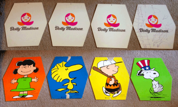 Peanuts, Lucy, Snoopy, Woodstock, Charlie Brown, Dolly Madison