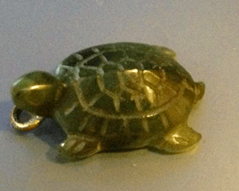 Tortoise, Turtle, Jade, Charm, Necklace