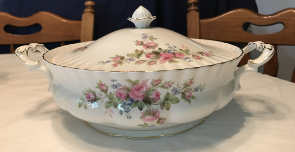 1956 Royal Albert China with Moss Rose Pattern